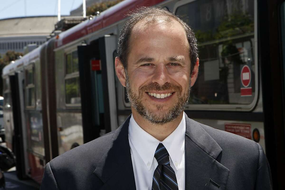 Ed Reiskin smiles after being appointed as the new executive director of Municipal Transportation Agency in San Francisco Calif., on July 21, 2011.