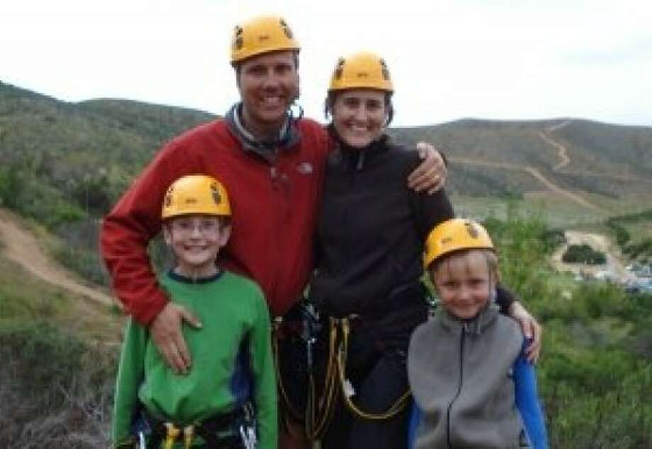 From left, Luke, David, Dorothy and Ryan Houghton. The parents and their sons were killed in a plane crash in Watsonville on July 7, 2011. Photo: Courtesy Of Houghton Family