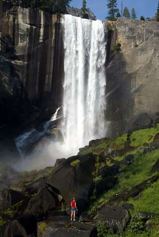 Vernal Falls in Yosemite Valley, from the Mist Trail. Story on a proposal to build new parking lot and campground in Yosemite Valley. LIZ MANGELSDORF / The Chronicle Photo: Liz Mangelsdorf, The Chronicle