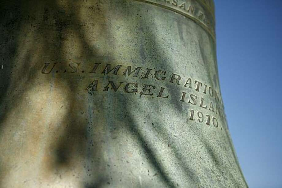 A bell is seen at the Angel Island Immigration Station on Thursday July 15, 2010 at Angel Island State Park in Tiburon, Calif. The Angel Island Immigration Station was built in 1910 and is celebrating its 100th anniversary this year. The novel Angel Island: Immigrant Gateway to America by Judy Yang commemorates the Angel Island Immigration Station's 100th anniversary. Photo: Jasna Hodzic, The Chronicle