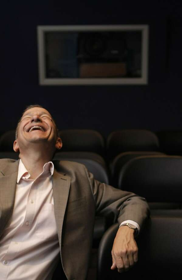 Executive Director Peter Stein sits in a screening room in the 9th Street Independent Film Center where the San Francisco Jewish Film Festival is headquartered in San Francisco Calif.,  on July 6, 2011. Photo: Audrey Whitmeyer-Weathers, The Chronicle