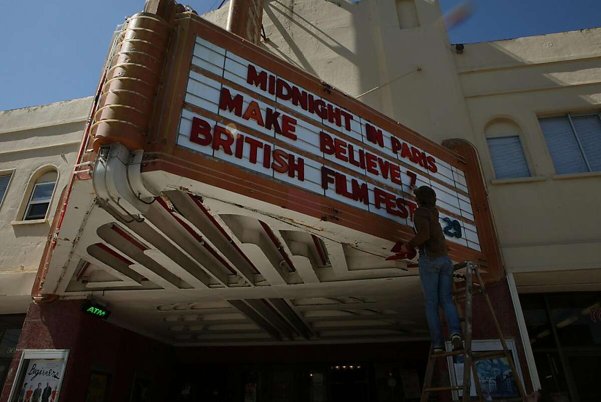 Balboa Theatre is one of the last independent movie theaters in San Francisco in San Francisco, Calif., as long time manager Nick Campbell works on the marquee on Wednesday, July 20, 2011. The two-screen Sunset District theater, which opened in 1926, does decent business, but will be needing expensive upgrades.