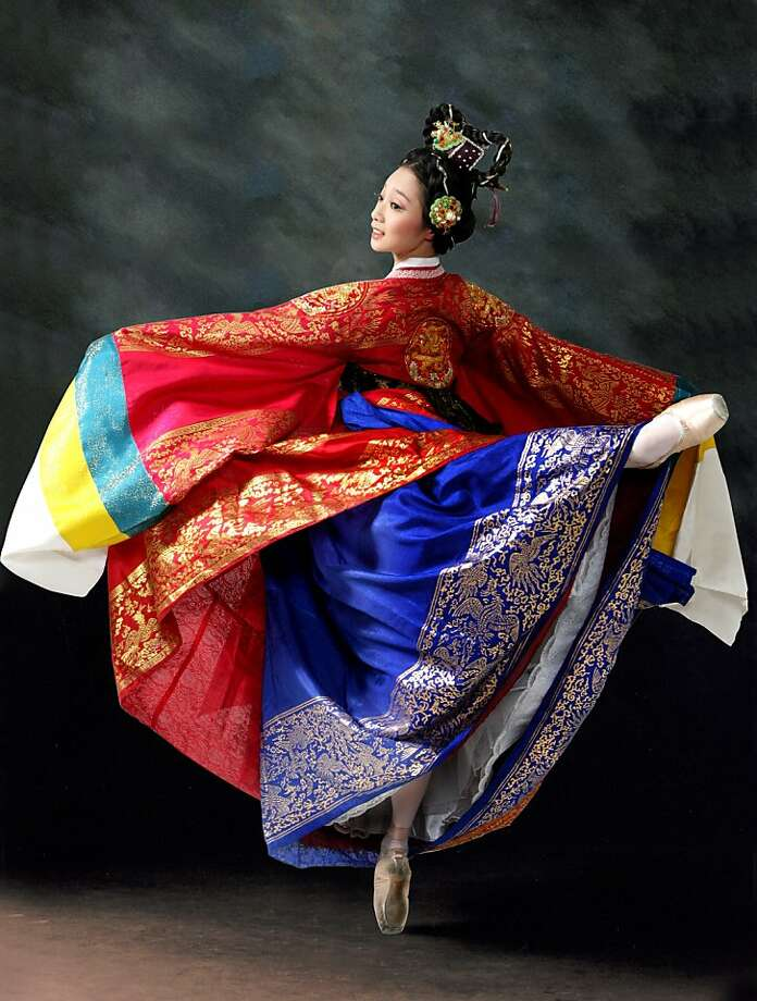 The Universal Ballet of Korean will present Shim Chung (The Blindman's Daughter) Friday and Sunday at the War Memorial Opera House.  The Korean folk tale comes alive with an international cast  of 71dancers from Korea, China, Russia, the United States and Japan.    The tale is about the devoted daughter of a blind man who, when  learning that that a donation of 300 bags of rice to the local temple will allow her father to regain his sight, willingly sells herself to the captain of a ship as a sacrifice to protect his vessel from the wrath of the Sea Dragon King.   Tickets are available at the cityboxoffice.com Photo: Snowy World Entertainment