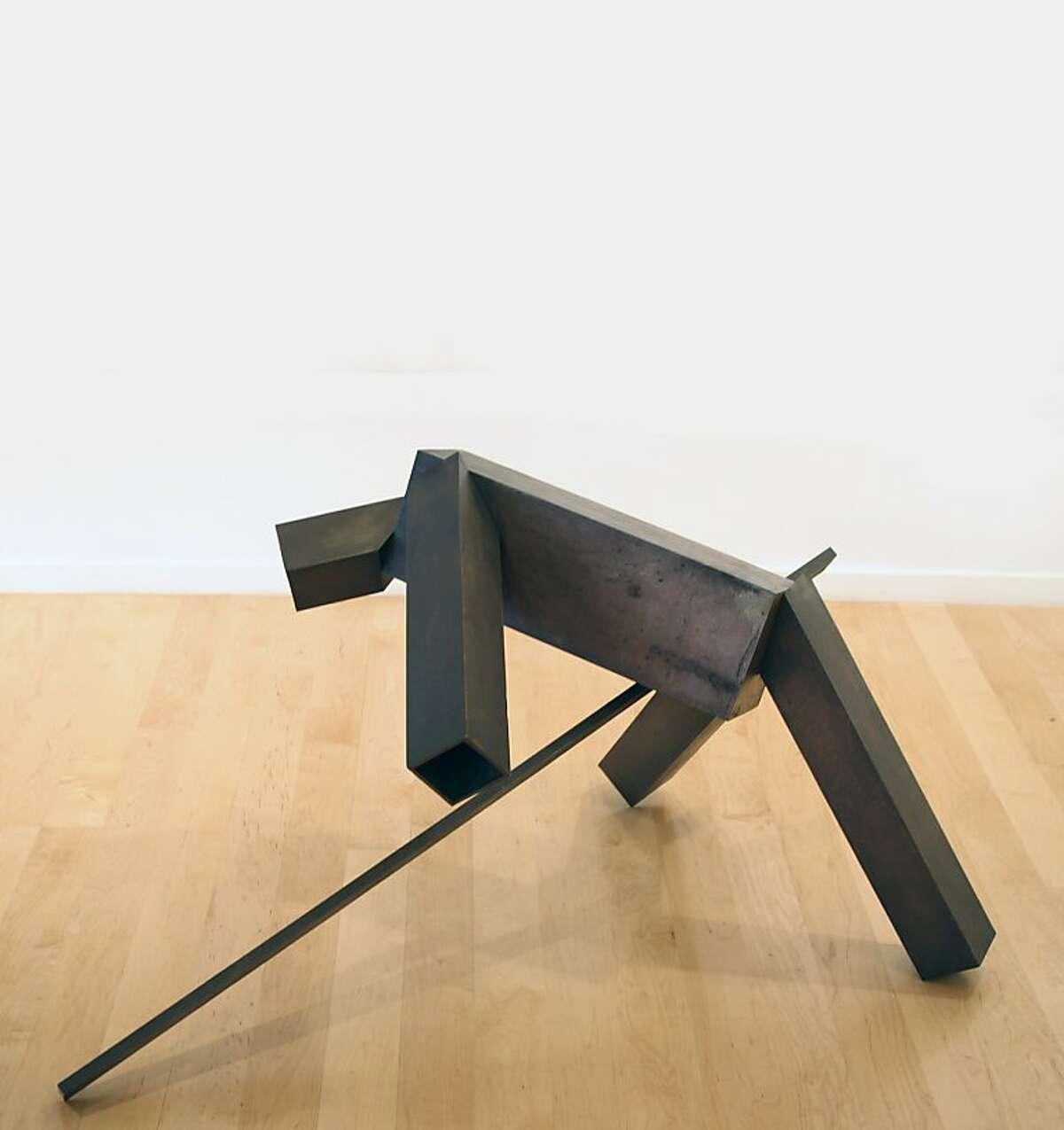 """Untitled"" (1986-87) bronze by Joel Shapiro"