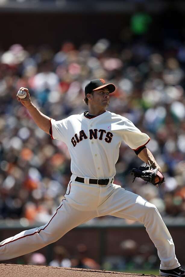 San Francisco Giants Ryan Vogelsong pitches during the first inning. The San Francisco Giants take on the Colorado Rockies at AT&T Park in San Francisco, Calif., on Sunday, May 8, 2011. Photo: Thomas Levinson, The Chronicle