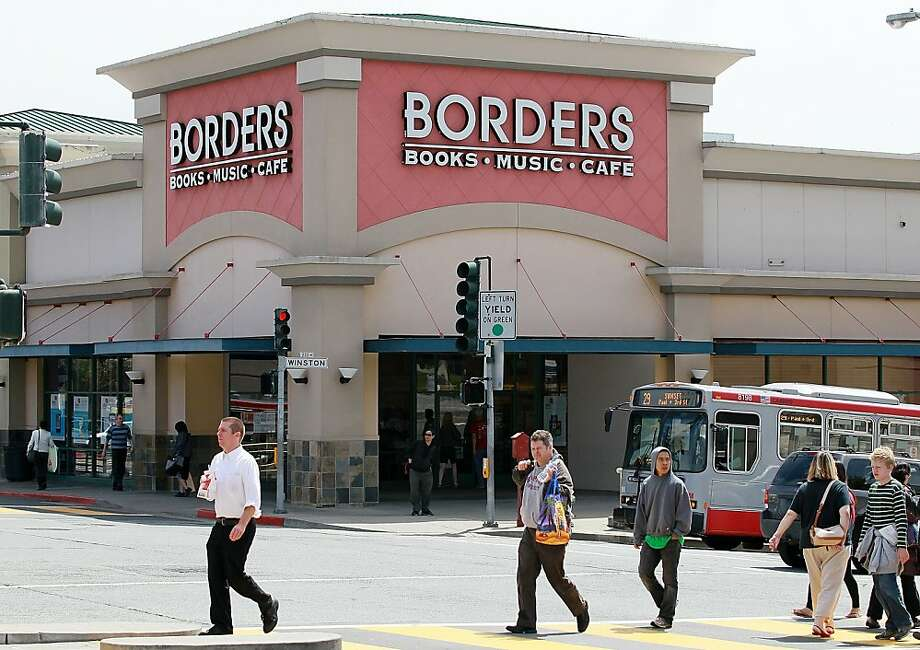 SAN FRANCISCO, CA - JULY 18:  Pedestrians walk by a Borders Bookstore on July 18, 2011 in San Francisco, California.  Borders Group Inc., the nation's second largest bookstore chain, annouced today that it will liquidate the company after they failed to find a buyer following a Chapter 11 bankruptcy filing and attempted reorganization in February. Nearly 400 stores will close and an estimated 11,000 jobs wil be lost. Photo: Justin Sullivan, Getty Images
