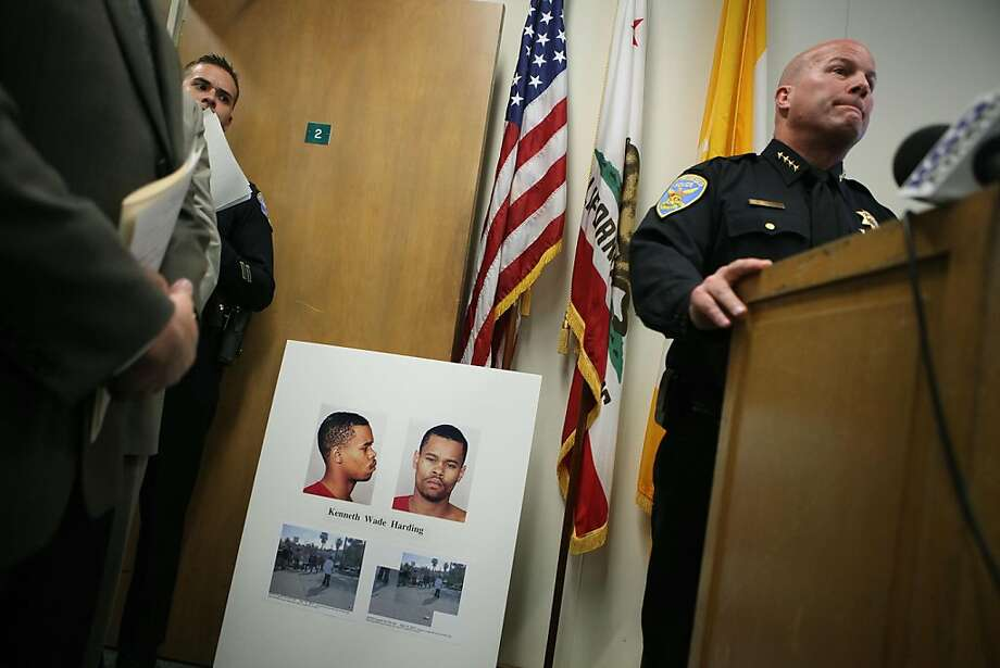 Police Chief Greg Suhr (right) holds a press conference on Monday, July 18, 2011 at the Hall of Justice in San Francisco, Calif., to talk about the recent officer involved in the shooting on 3rd and Palou Ave. Photo: Liz Hafalia, The Chronicle