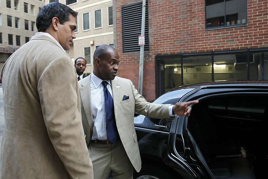 Kevin Mawae, left, president of the NFL Players Association, and DeMaurice Smith, Executive Director, NFL Players Association leave the NFL Players Association offices where talks to end the NFL football lockout have been taking place, Tuesday, July 19, 2011, in Washington. Photo: Jacquelyn Martin, AP