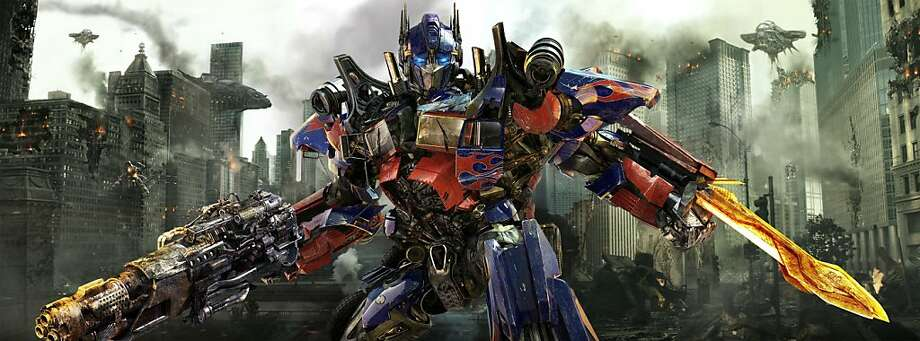 "In this publicity image released by Paramount Pictures, Optimus Prime is shown in a scene from ""Transformers: Dark of the Moon."" Photo: Paramount Pictures, AP"
