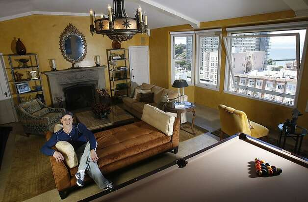 Former Olympic medalist / chef Brian Boitano relaxes in his living room  in San Francisco, Calif., on Wednesday, July 6, 2011. Photo: Liz Hafalia, The Chronicle