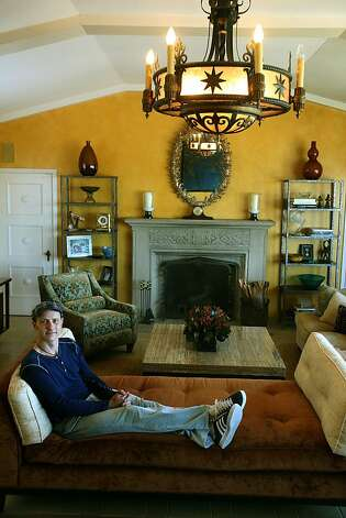 Former Olympic medalist / chef Brian Boitano relaxing in his living room in San Francisco, Calif., on Wednesday, July 6, 2011. Photo: Liz Hafalia, The Chronicle