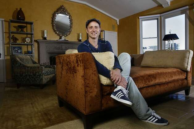 Former Olympic medalist / chef Brian Boitano in his living room  in San Francisco, Calif., on Wednesday, July 6, 2011. Photo: Liz Hafalia, The Chronicle