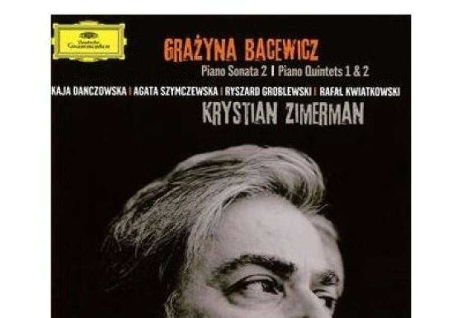 CD cover  of Krystian Zimerman's Grazyna Bacewicz Chamber Music. Photo: Deutsche Gramophon
