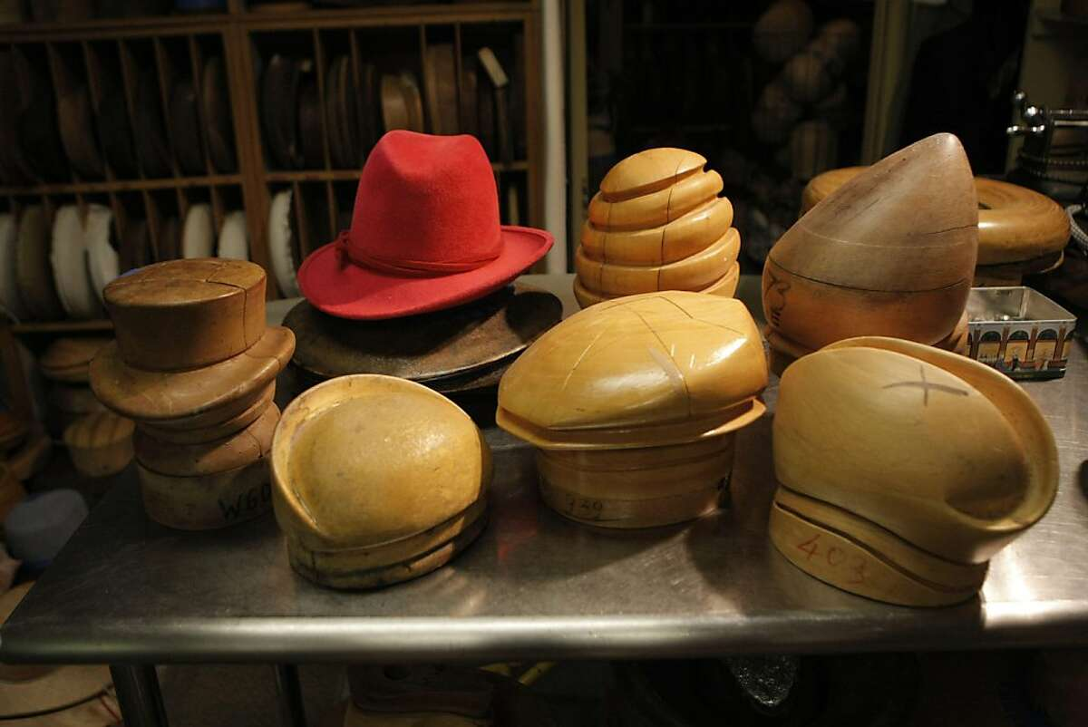Wayne Wichern also has a vast hat block collection with blocks of all shapes and sizes with many of the blocks dating back to the 1920s and 30s in his shop in Redwood City Calif., on July 1, 2011.