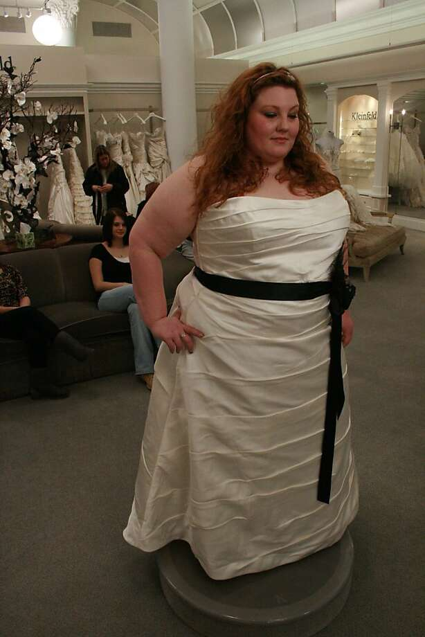 Crystal Parson's dress selection. SAY YES TO THE DRESS: BIG BLISS  Credit: TLC Photo: TLC