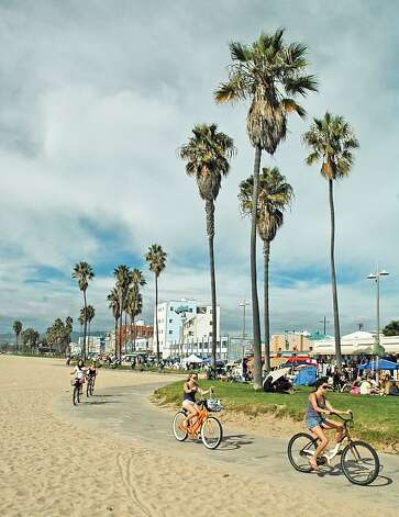 Bikers cruising The Strand in Venice Beach Photo: Bill Fink