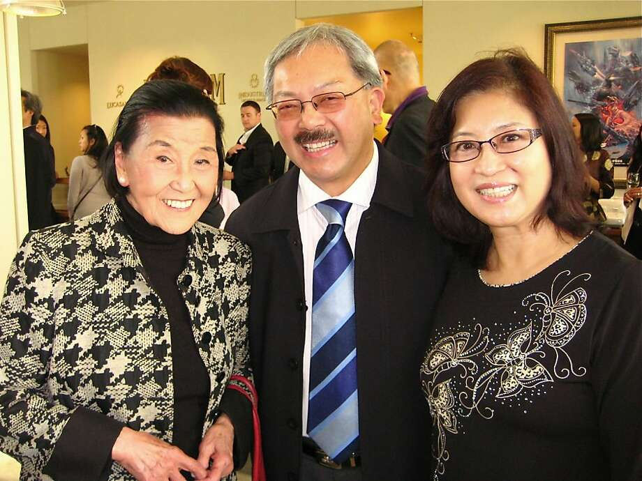 Chef-author Cecilia Chiang (left) with Mayor Ed Lee and his wife, First Lady Anita Lee at the ILM screening of Snow Flower and the Secret Fan. July 2011. By Catherine Bigelow. Photo: Catherine Bigelow, Special To The Chronicle