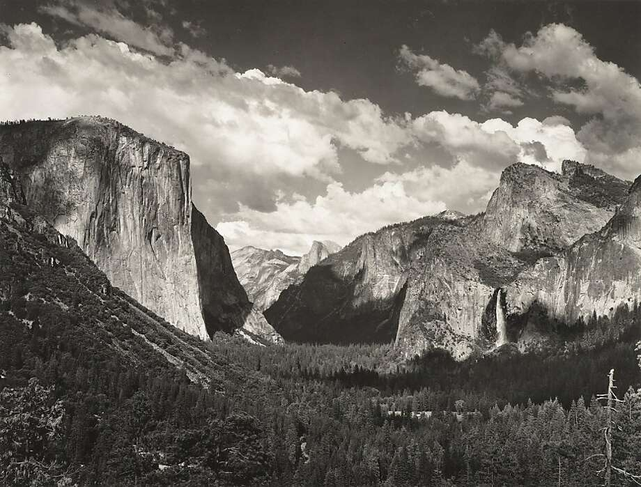 Ansel Adams, Clouds, from Tunnel Overlook, Yosemite National Park, California, ca. 1934; gelatin silver print; 7 x 9 ¼ in.; Collection SFMOMA, gift of Mrs. Walter A. Haas. Photo: Ansel Adams Pub. Rights Trust