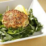 Boulevard Crab Cakes, from Nancy Oakes of Boulevard. Styling by Sarah Fritsche.