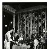 Interior of Cecilia Chiang's Mandarin Restaurant in Ghirardelli Square, San Francisco.