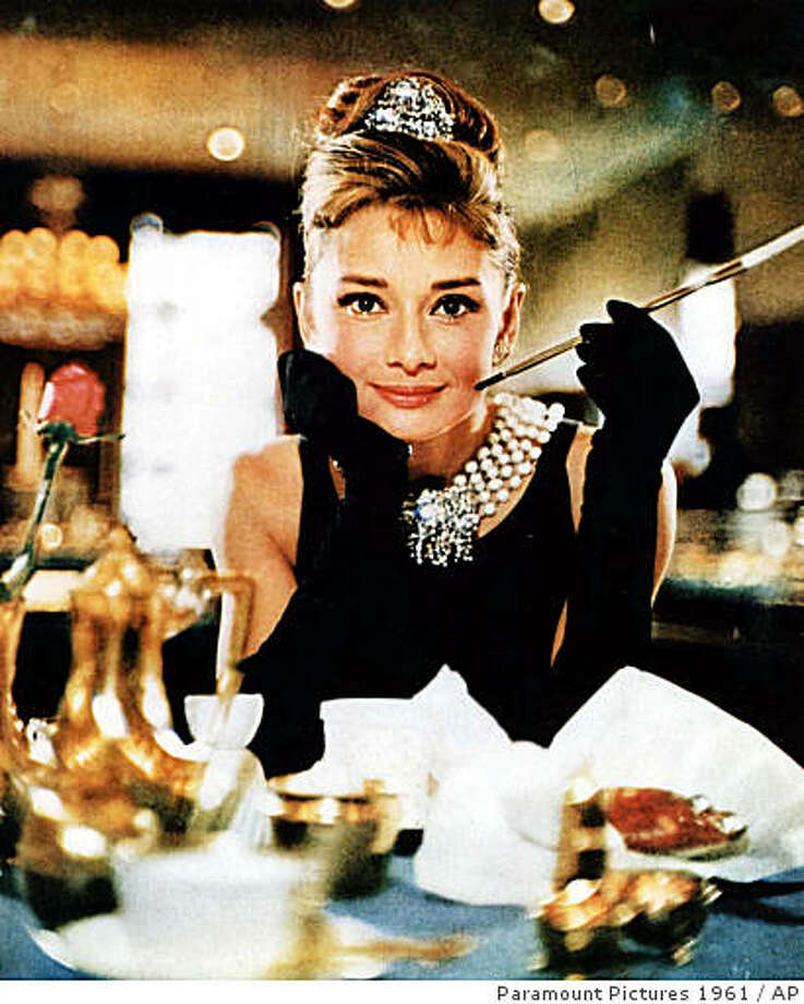 """his undated file photo released by Christie's auction house Tuesday, Oct. 10, 2006, shows actress Audrey Hepburn in the 1961 film, """"Breakfast at Tiffany's."""" Photo: Paramount Pictures 1961, AP"""