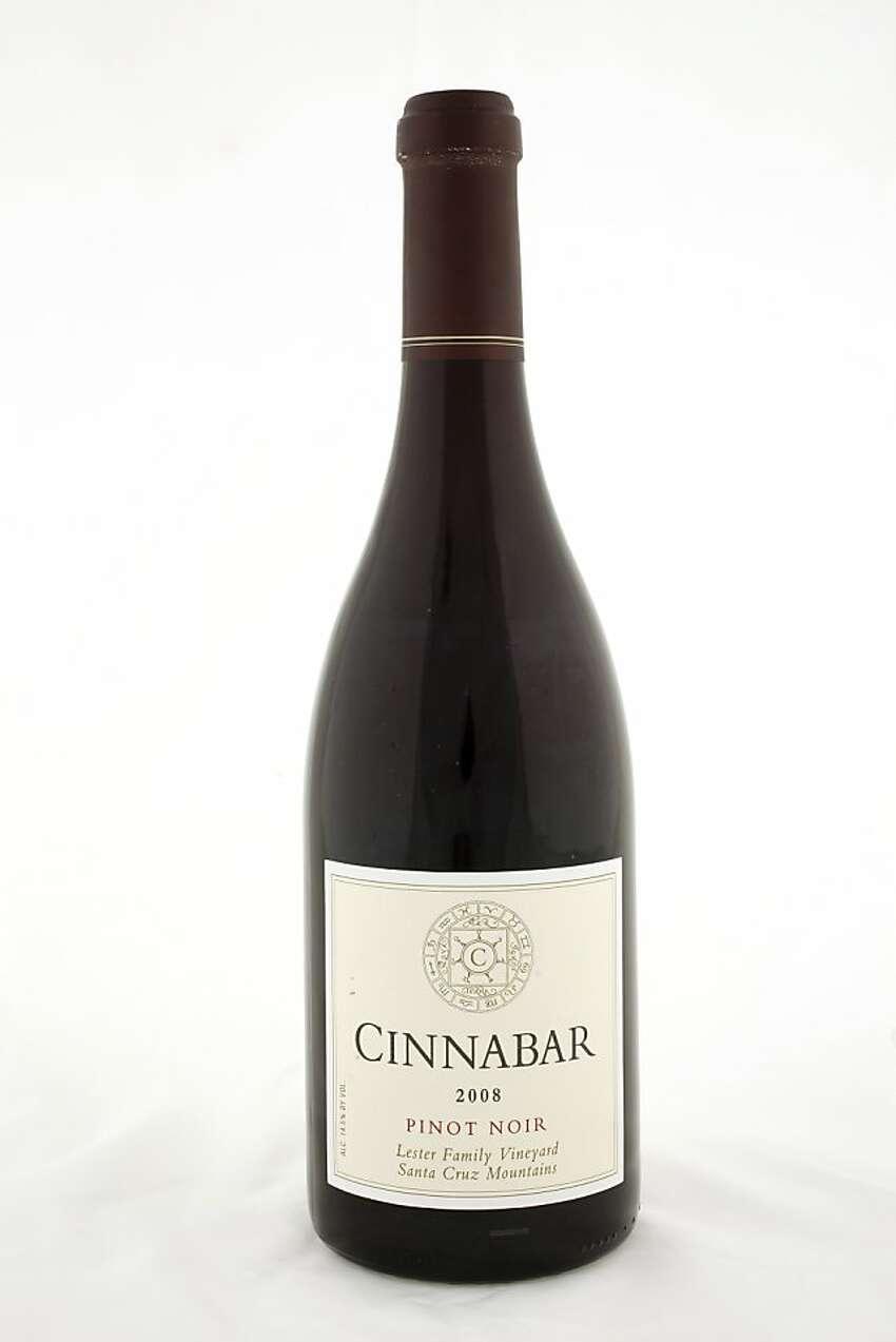2008 Cinnabar Lester Family Vineyard Santa Cruz Mountains Pinot Noir ($35; 14.5%)