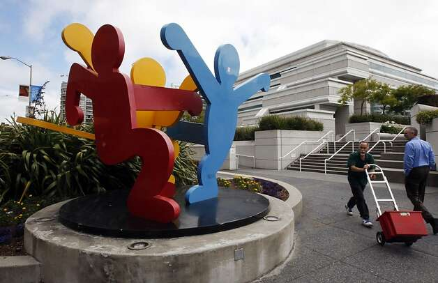 One of the Civic Art Collection projects is Keith Haring's 2001 painted steel sculpture of dancing figures is located at the corners of 3rd Street at Howard Steet in San Francisco. The restoration calls for celaning and possibly re-coating faded painted elements.  The estimated cost is $15,000. Photo: Lance Iversen, The Chronicle