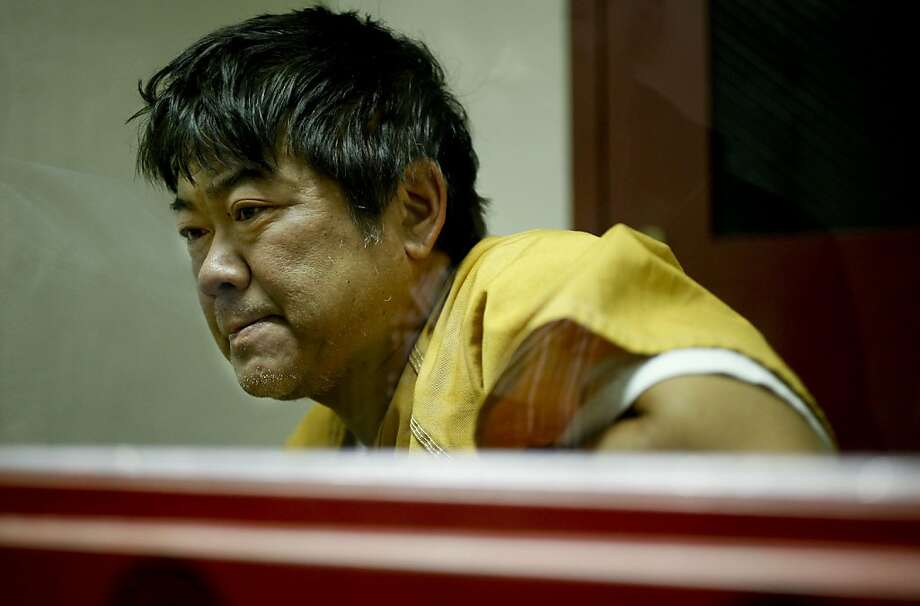 Steven Hayashi, 52 speaks from the visiting room at the Martinez, Ca., jail on Friday July 23, 2010, where he is being held after his step-grandson Jacob Bisbee, was attacked by three of his pit bulls and mauled to death yesterday at his Concord, Ca. home. Photo: Michael Macor, The Chronicle