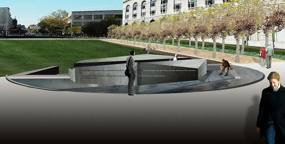 This entry by Susan Narduli & Andrea Cochran is one of three finalists selected in a competition to build a permanent memorial to San Francisco war veterans. Photo: Susan Narduli & Andrea Cochran
