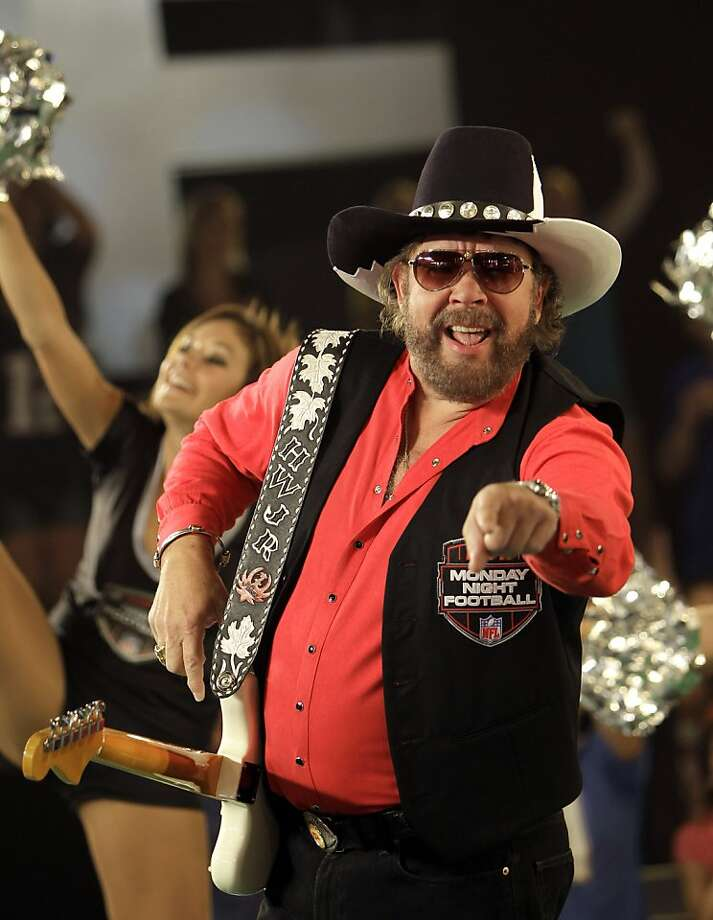 Hank Williams, Jr., performs during the recording of a promo for NFL Monday Night Football, Thursday, July 14, 2011, in Winter Park, Fla. Williams recorded the promo despite that fact the upcoming season still remains in limbo as owners and players work to end the lockout. Photo: John Raoux, AP