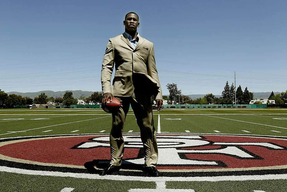 Aldon Smith was introduced as the The San Francisco 49ers' first round NFL draft pick, at 49ers headquarters in Santa Clara, Ca., on Friday April 29, 2011. Photo: Michael Macor, The Chronicle