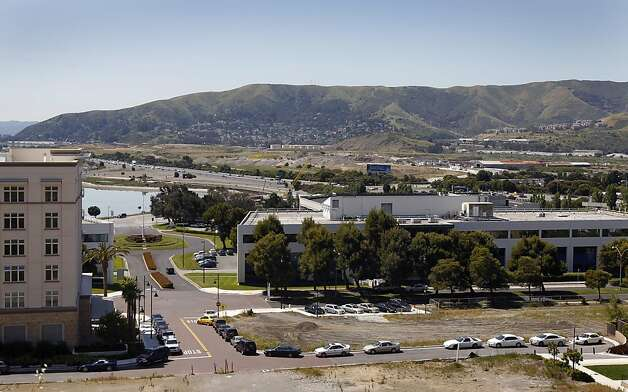 The Executive Park business complex is seen near Candlestick Park in San Francisco, Calif. on Wednesday, May 4, 2011. The Planning Commission is set to vote on a plan to build a much larger complex on the site. Photo: Paul Chinn, The Chronicle