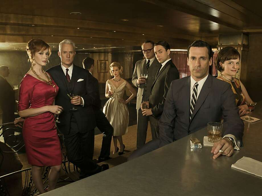 The principal cast of Mad Men: Christina Hendricks, John Slattery, January Jones, Jared Harris, Vincent Kartheiser, Jon Hamm and Elisabeth Moss. Photo: Frank Ockenfels , AMC