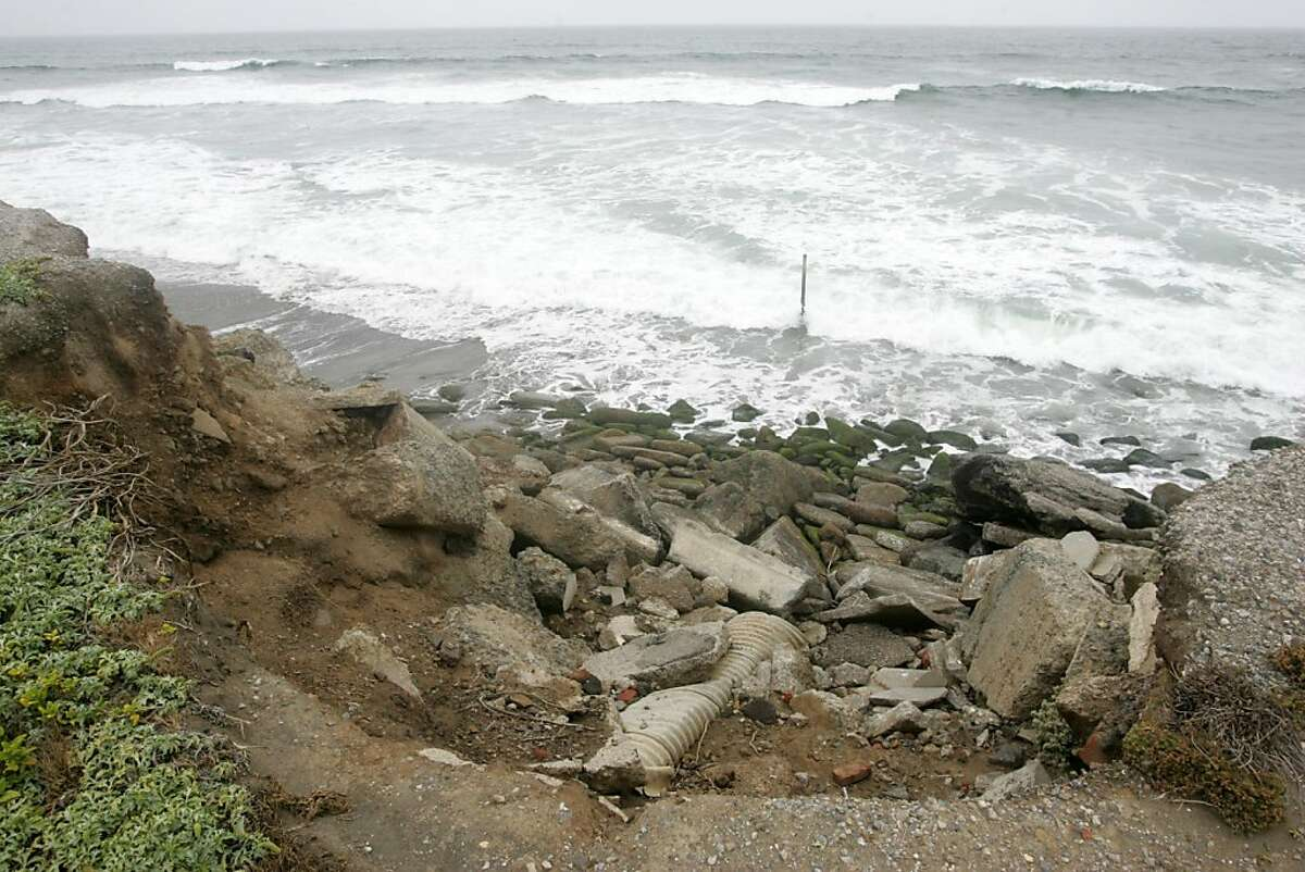 Increase erosion during the winter of 2010 has caused road closures and the city to seek more reinforcement in the area. San Francisco could get permission to install more rocks and two new walls of pilings at Ocean Beach under a permit the California Coastal Commission will consider Wednesday.