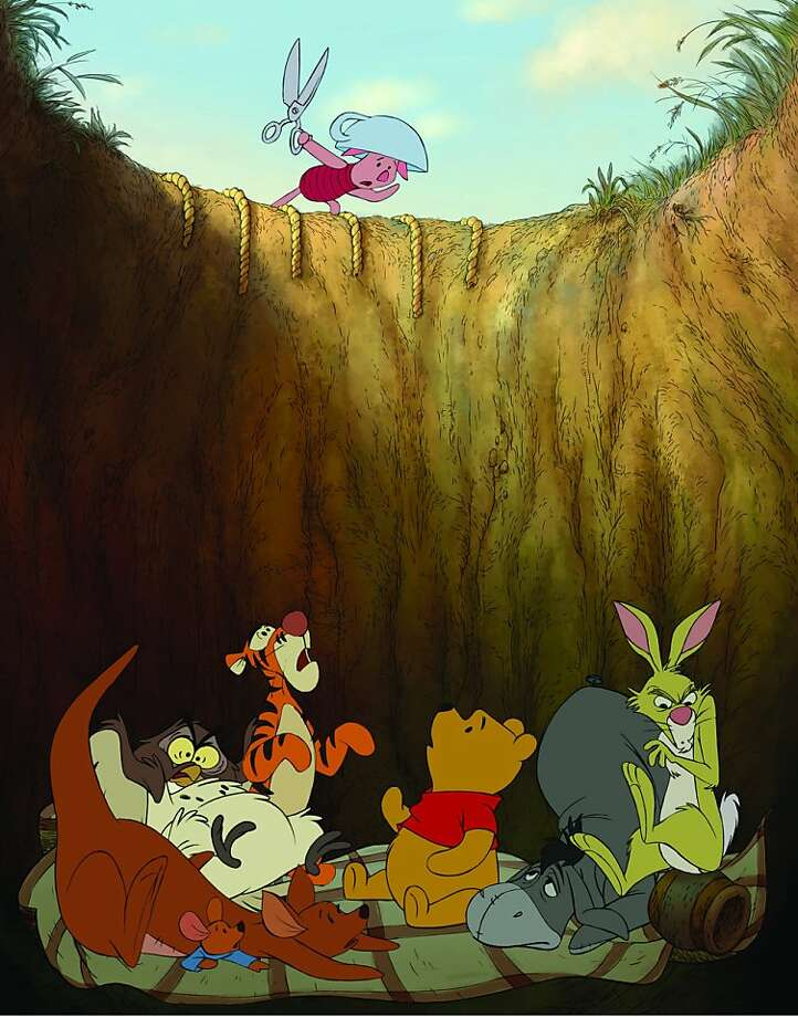 """WINNIE THE POOH"" Left to right: Kanga, Roo, Owl, Tigger, Piglet (top), Winnie the Pooh, Eeyore, Rabbit Photo: ©Disney Enterprises, Inc"