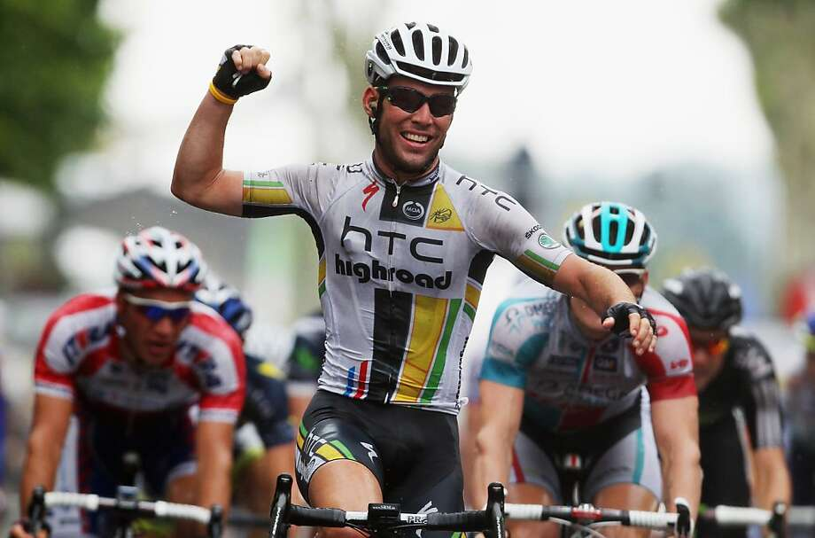 LAVAUR, FRANCE - JULY 13:  Mark Cavendish of Great Britain and HTC Highroad celebrates winning stage eleven of the 2011 Tour de France from Blaye-Les-Mines to Lavaur on July 13, 2011 in Lavaur, France.  (Photo by Bryn Lennon/Getty Images)  *** BESTPIX *** Photo: Bryn Lennon, Getty Images