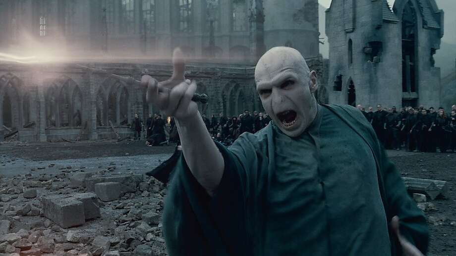 "In this film publicity image released by Warner Bros. Pictures, Ralph Fiennes portrays Lord Voldemort in a scene from ""Harry Potter and the Deathly Hallows: Part 2."" Photo: Warner Bros. Pictures, AP"
