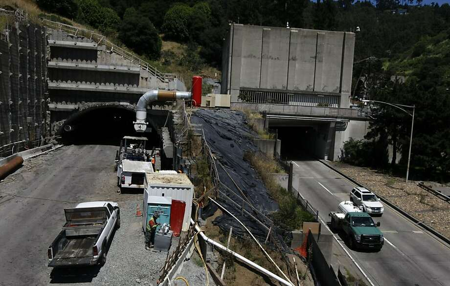 Construction continues on the fourth bore of the Caldecott Tunnel Friday, July 8, 2011, in Oakland. More than $1 billion in federal stimulus dollars that helped build and pave Bay Area roads, bridges and tunnels could go into reverse under a new plan by House Republicans who said they have little choice but to slash highway funding in an era of federal deficits. Photo: Lance Iversen, The Chronicle