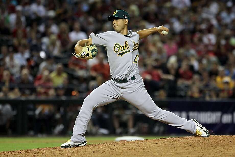 PHOENIX, AZ - JULY 12:  American League All-Star Gio Gonzalez #47 of the Oakland Athletics throws a pitch in the eighth inning of the 82nd MLB All-Star Game at Chase Field on July 12, 2011 in Phoenix, Arizona. Photo: Jeff Gross, Getty Images