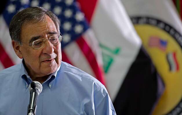 BAGHDAD, IRAQ - JULY 11:  U.S. Secretary of Defense Leon Panetta delivers remarks to the troops as he visits Camp Victory July 11, 2011 in Baghdad, Iraq. Panetta spoke to the 1-63 Dagger Brigade, 1st Battalion, 63rd Armor Regiment, 2nd Advise and Assist Brigade; 25th Infantry; 116th Calvary Brigade Combat Team and thanked them for their service. Photo: Pool, Getty Images