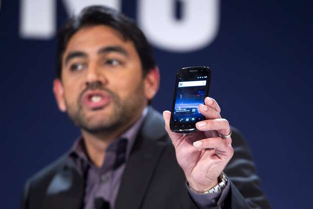 Omar Khan, chief strategy officer of Samsung Electronics Co.'s Americas Telecommunications unit, displays the Samsung Nexus S, a  a Google Android-powered smartphone, during the 2011 International Consumer Electronics Show (CES) in Las Vegas, Nevada, U.S., on Wednesday, Jan. 5, 2011. Photo: Andrew Harrer, Bloomberg