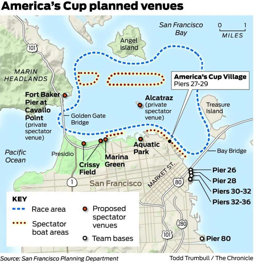 Pier 27 San Francisco Map.America S Cup Preparations Under Way For The Bay Sfgate