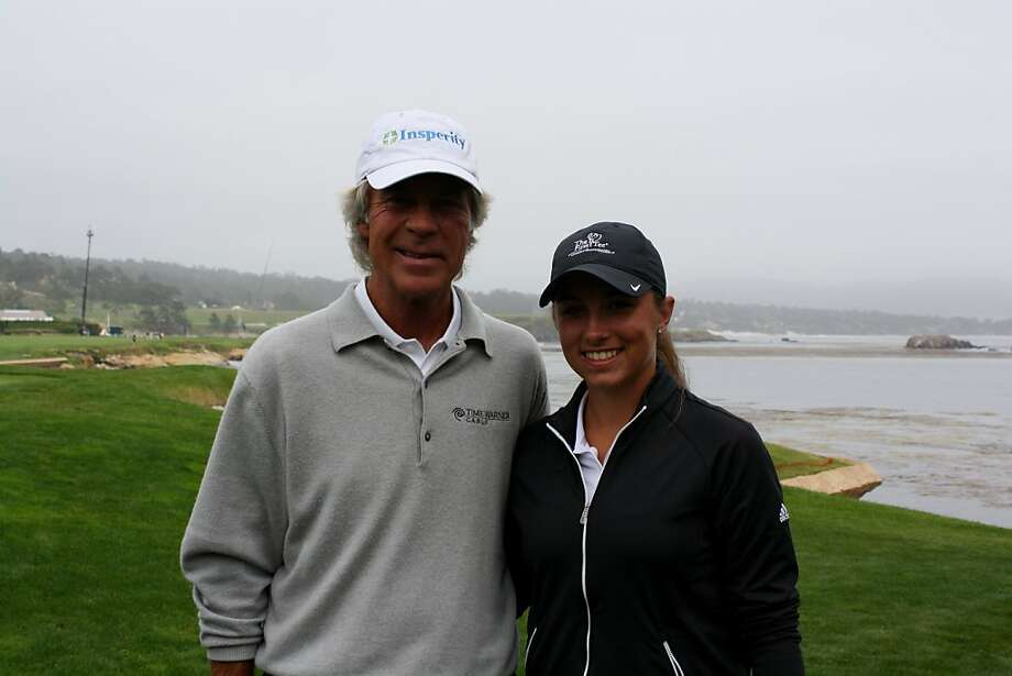Casie Cathrea and Ben Crenshaw at Pebble Beach Photo: First Tee Open
