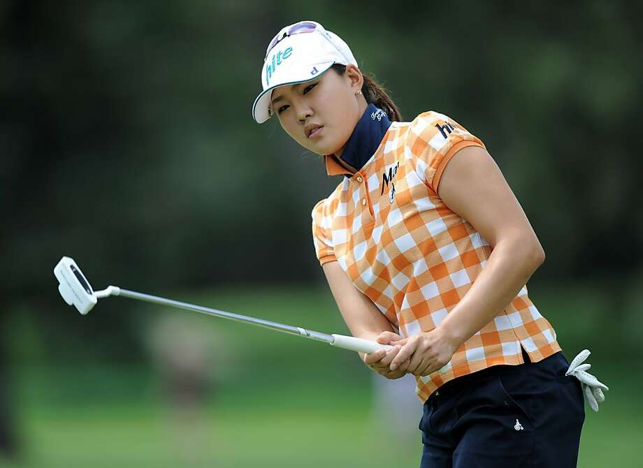 COLORADO SPRINGS, CO - JULY 10:  Hee Kyung Seo of South Korea reacts to her putt on the 16th green during the continuation of the third round of the 2011 U.S. Women's Open at The Broadmoor on July 10, 2011 in Colorado Springs, Colorado. Photo: Harry How, Getty Images
