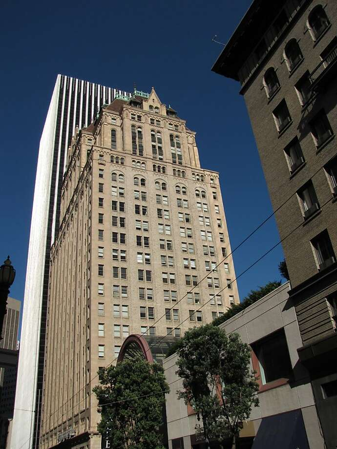 The tower at 111 Sutter St. was never the city's tallest, but it's one of the most distinctive, a 1926 high-rise with a touch of French Chateau detailing. Schultze and Weaver was the architecture firm involved. Photo: John King