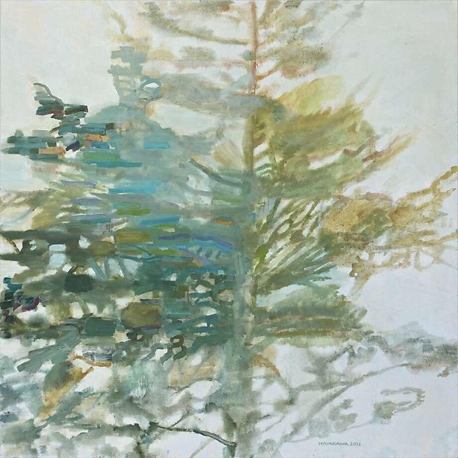 """Philo"" (2011) oil on canvas by Wynne Hayakawa    58"" x 58"" Photo: Unknown, Andrea Schwartz Gallery, S.f."
