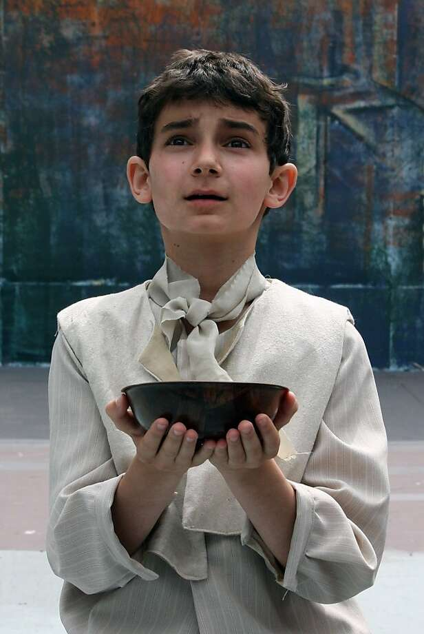 """Samuel Berston in the title role in Woodminster Summer Musicals production of """"Oliver!"""" Photo: Kathy Kahn"""