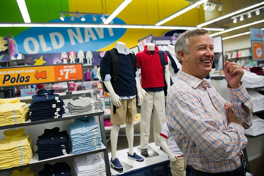 Tom Wyatt, president of Old Navy getures as he speaks during an interview at the Gap Inc. Old Navy store in San Mateo, California, U.S., on Wednesday, June 29, 2011. Old Navy's revamped stores have helped the retailer boost sales after years of declines.  Photographer: David Paul Morris/Bloomberg *** Local Caption *** Tom Wyatt Photo: David Paul Morris, Bloomberg