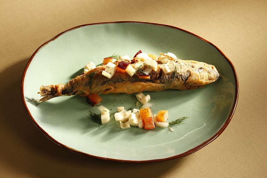 Gitane's Semolina-Crusted Sardines. Food styled by Sophie Brickman. Photo: Craig Lee, Special To The Chronicle