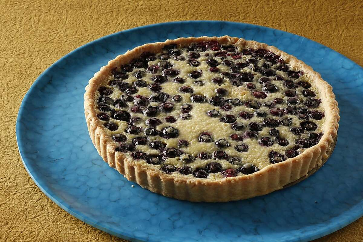 Lemon Blueberry Tart. Food styled by Sarah Fritsche.